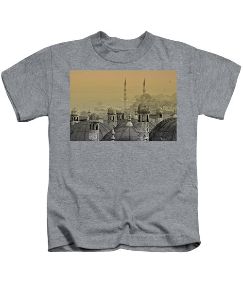 Suleymaniye Mosque And New Mosque In Istanbul Kids T-Shirt
