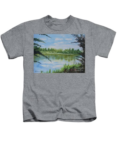 Summer By The River Kids T-Shirt