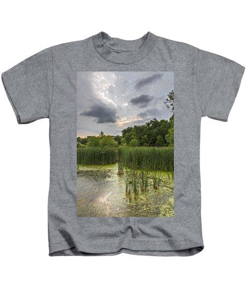 Summer Evening Clouds Kids T-Shirt