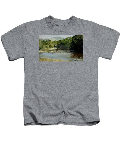 Summer On The River In Vermont Kids T-Shirt
