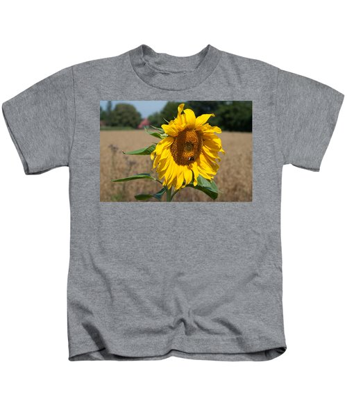 Sun Flower Fields Kids T-Shirt