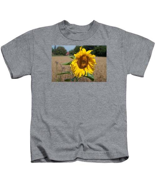 Sun Flower Fields Kids T-Shirt