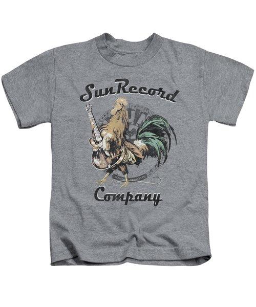 Sun - Rockin Rooster Logo Kids T-Shirt by Brand A