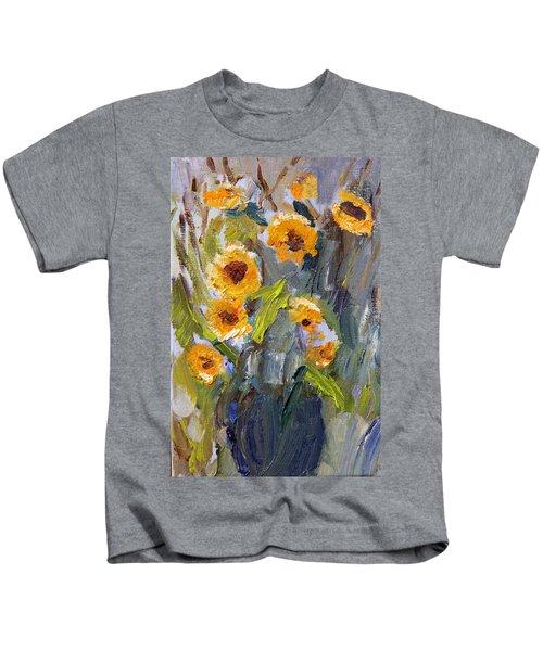 Sunflower Bouquet Kids T-Shirt