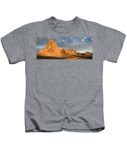 Sunrise At La Sal Mountians Kids T-Shirt