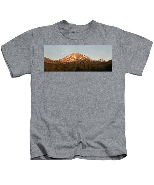 Sunset At Lassen Volcanic Np California Kids T-Shirt