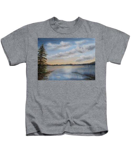 Sunset At Sparta Lake New Jersey Kids T-Shirt