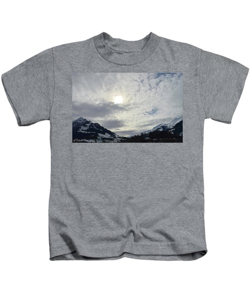 Sunset In Alps Kids T-Shirt