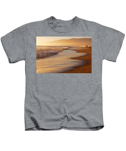 Sunset On A Beach Kids T-Shirt