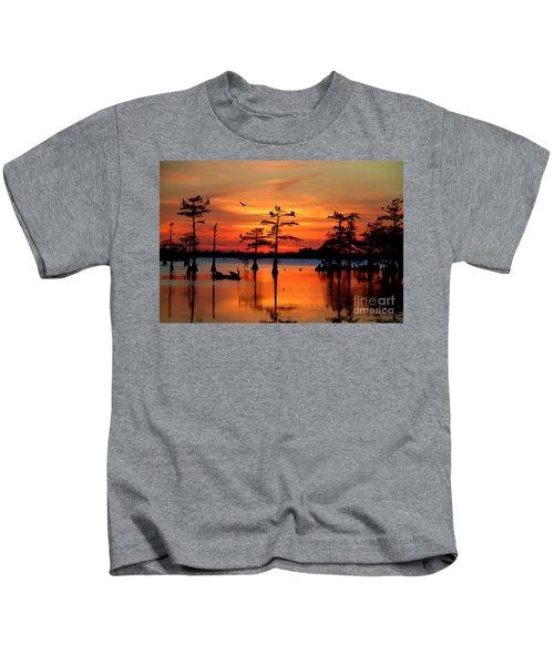 Sunset On The Bayou Kids T-Shirt