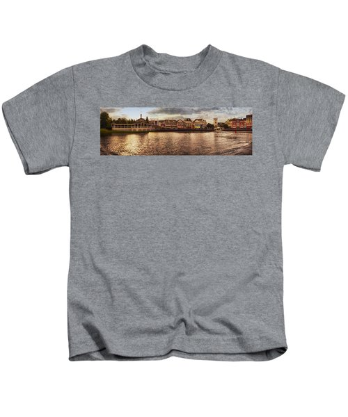 Sunset On The Boardwalk Walt Disney World Kids T-Shirt