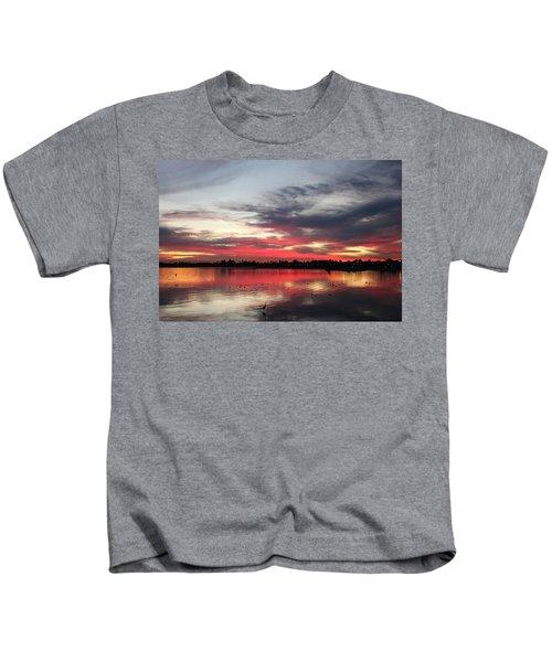 Sunset Over Mission Bay  Kids T-Shirt