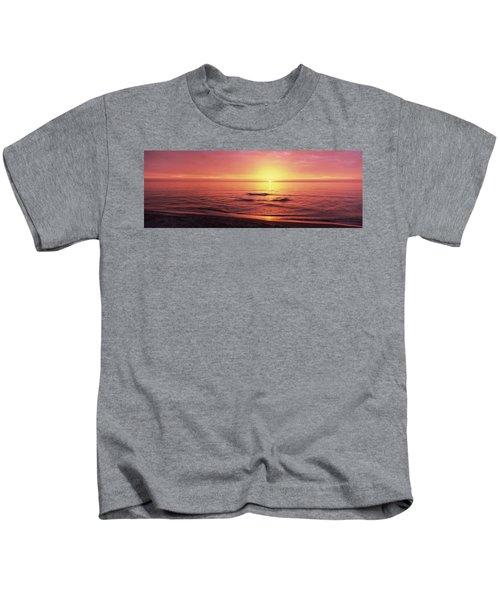 Sunset Over The Sea, Venice Beach Kids T-Shirt