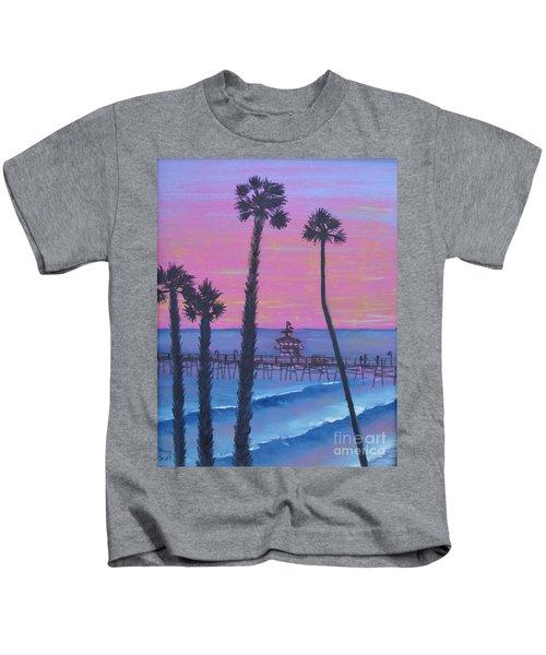 Sunset Pier Kids T-Shirt