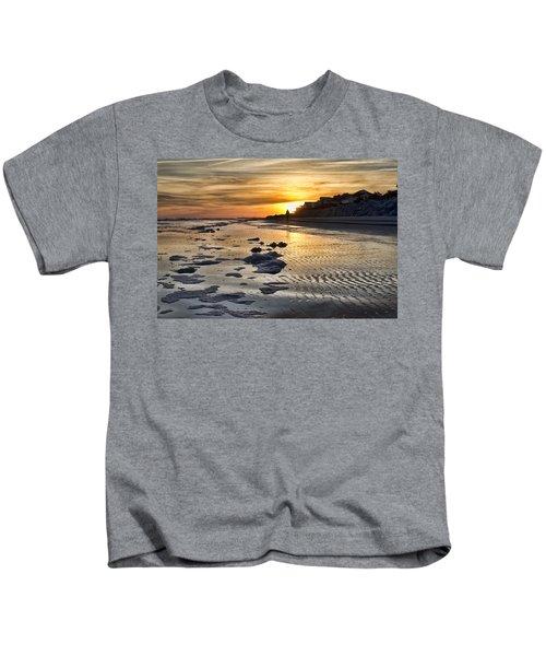 Sunset Wild Dunes Beach South Carolina Kids T-Shirt