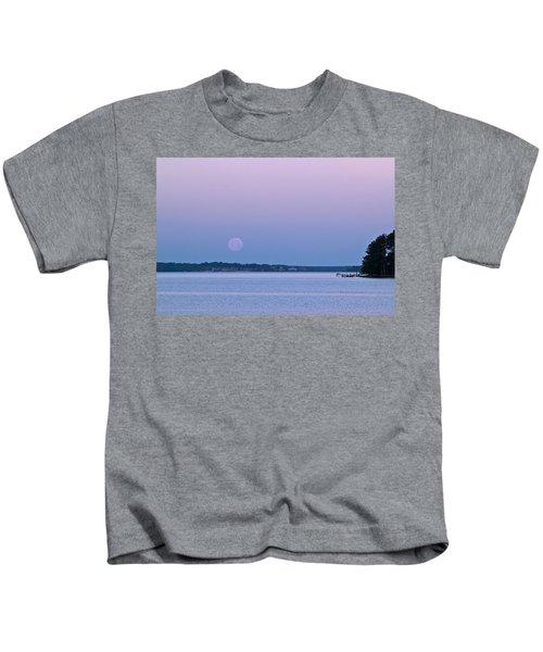 Super Moon Setting-1 Kids T-Shirt