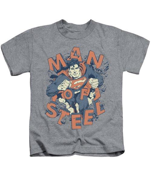 Superman - Coming Through Kids T-Shirt