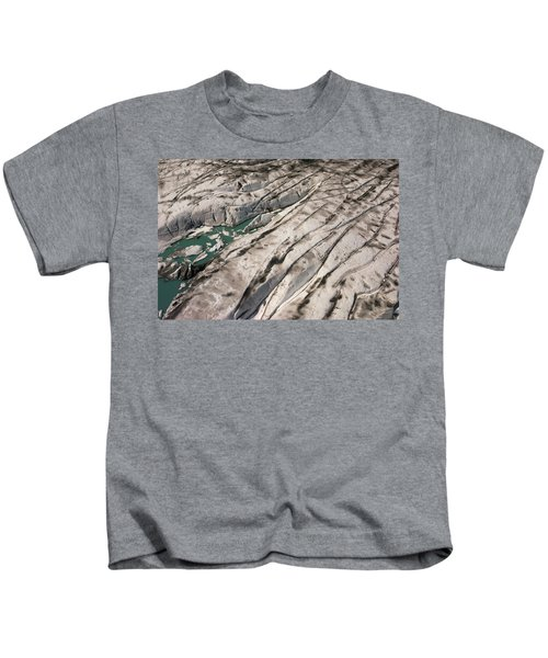 Surface Melt Ponds And Crevasses Kids T-Shirt