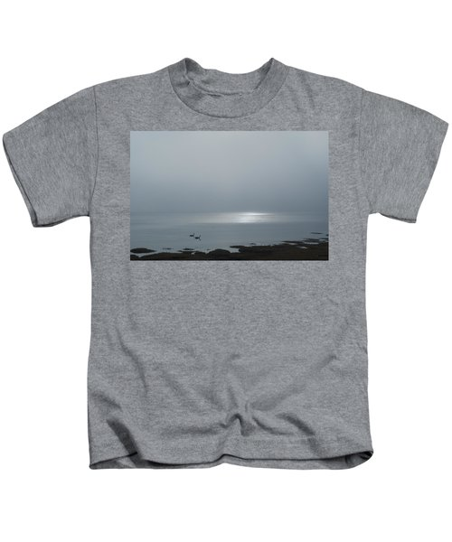 Swans At Sunrise Kids T-Shirt