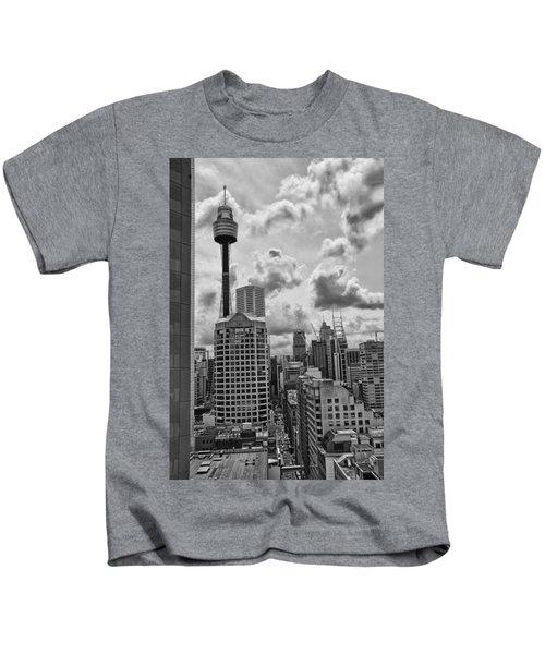 Sydney Skyline Kids T-Shirt by Douglas Barnard
