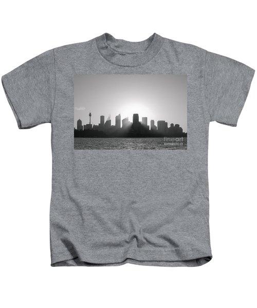 Sydney's Evening B/w Kids T-Shirt
