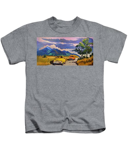Taos Joy Ride With Yellow And Orange Trucks Kids T-Shirt
