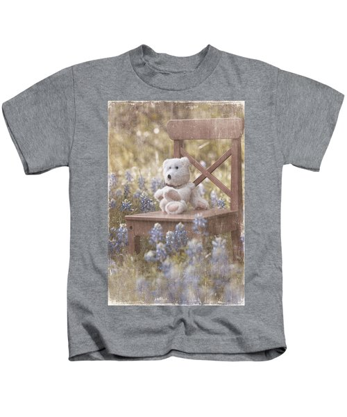 Teddy Bear And Texas Bluebonnets Kids T-Shirt