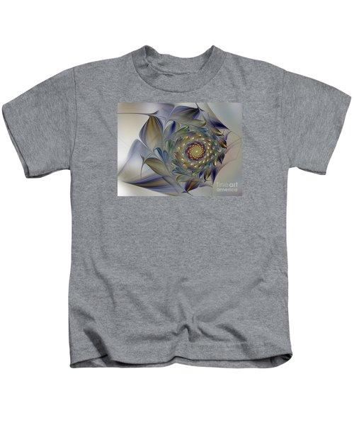 Tender Flowers Dream-fractal Art Kids T-Shirt