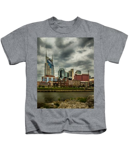 Tennessee - Nashville From Across The Cumberland River Kids T-Shirt