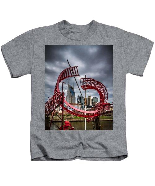 Tennessee - Nashville Through Sculpture Kids T-Shirt