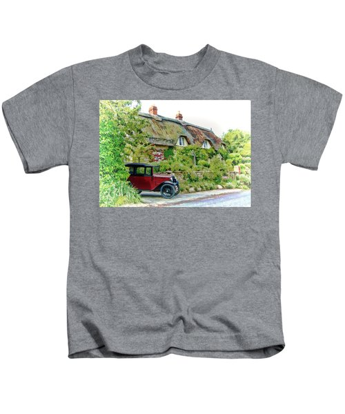 Thatched Cottages At Reybridge Kids T-Shirt