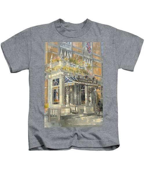 The Connaught Hotel, London Oil On Canvas Kids T-Shirt