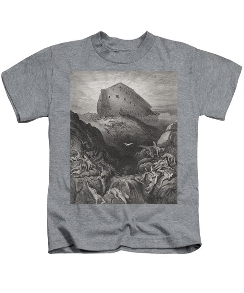 The Dove Sent Forth From The Ark, Genesis 138-9, Illustration From Dores The Holy Bible, 1866 Kids T-Shirt