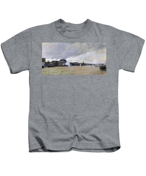 The Flooding Of The Seine, C.1903 Oil On Canvas Kids T-Shirt