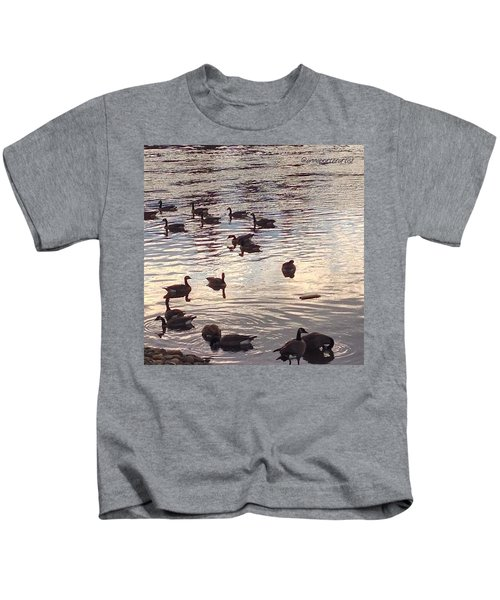 The Gathering - Willamette River Geese Kids T-Shirt