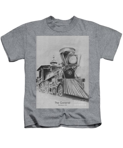 The General - Train - Big Shanty Kennesaw Ga Kids T-Shirt