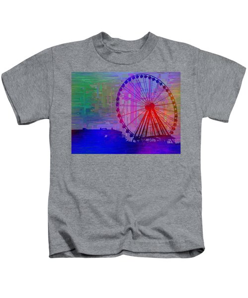 The Great  Wheel Cubed Kids T-Shirt