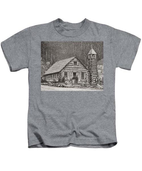 The Klondike Presbyterian Church At Juneau, Alaska Kids T-Shirt