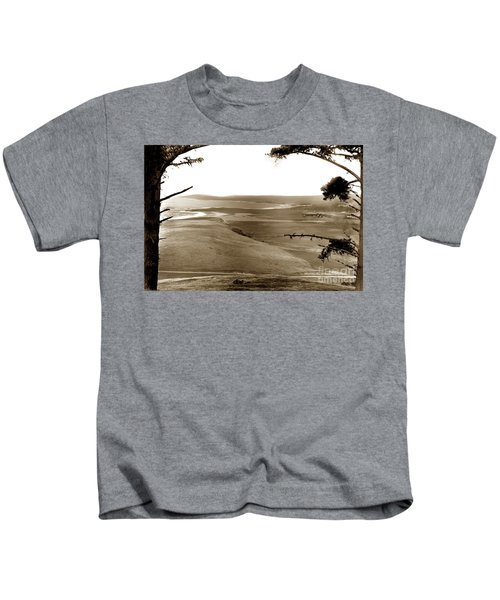 The Lagoon At The Mouth Of The Carmel River  From Fish Ranch California 1905 Kids T-Shirt