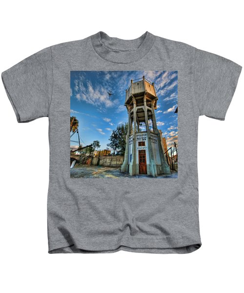 The Old Water Tower Of Tel Aviv Kids T-Shirt