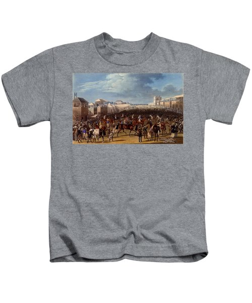 The Race Over, Print Made By Charles Kids T-Shirt