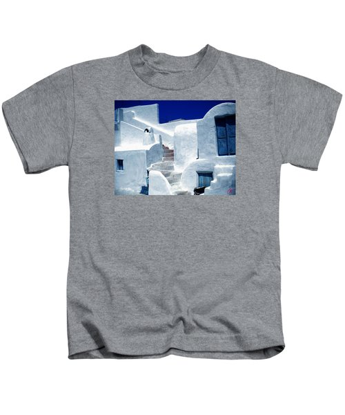 Kids T-Shirt featuring the photograph Thirasia Island Ancient House Near Santorini Greece by Colette V Hera  Guggenheim
