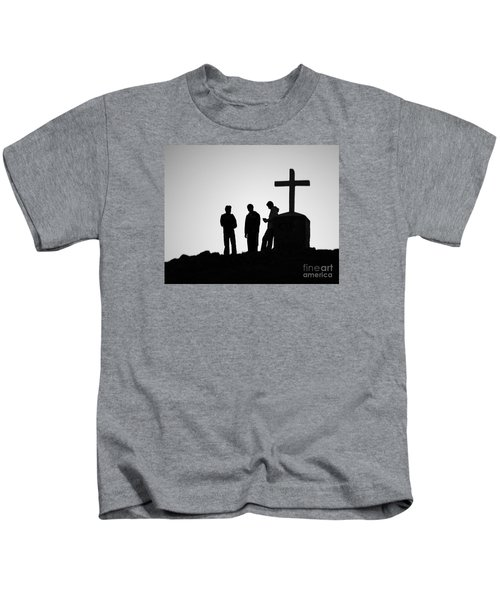 Three At The Cross Kids T-Shirt
