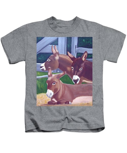 Three Donkeys Kids T-Shirt