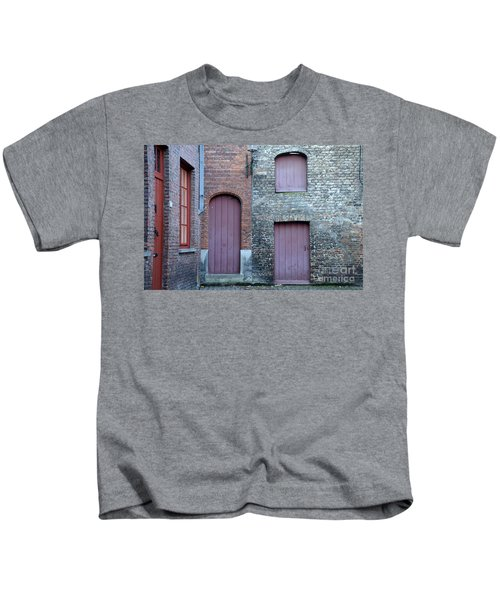 Three Doors And Two Windows Bruges, Belgium Kids T-Shirt