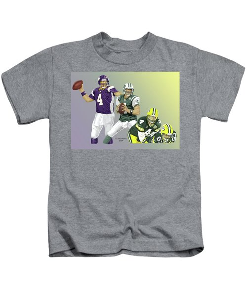 Three Stages Of Bret Favre Kids T-Shirt