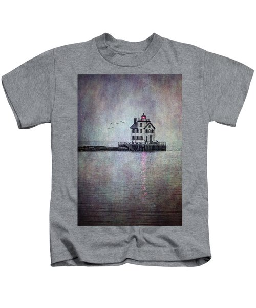 Through The Evening Mist Kids T-Shirt