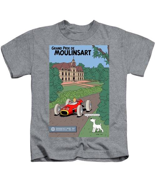 Tintin Grand Prix De Moulinsart 1965  Kids T-Shirt