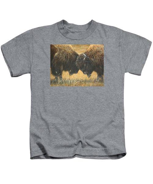Titans Of The Plains Kids T-Shirt