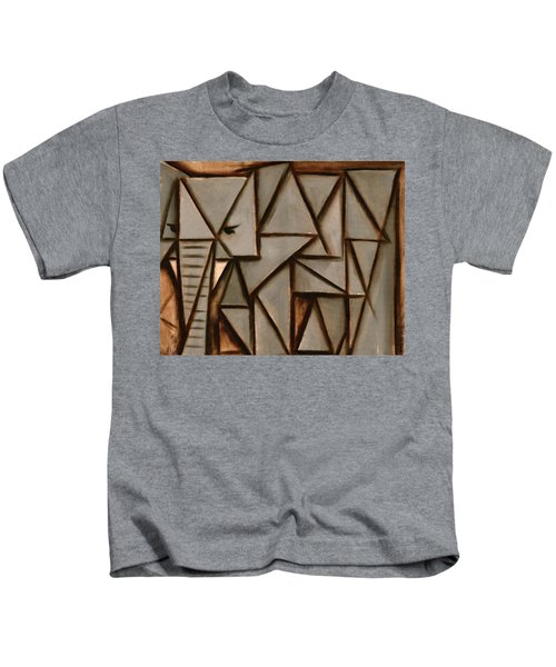 Tommervik Triangle Elephant Art Print Kids T-Shirt